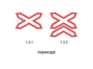 1.3.1 – 1.3.2 Количество путей на ж/д переезде