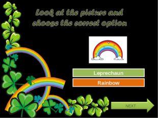 Try Again Great Job! Leprechaun Rainbow