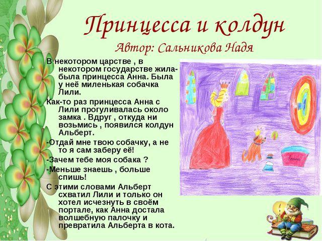 Принцесса и колдун Автор: Сальникова Надя В некотором царстве , в некотором г...