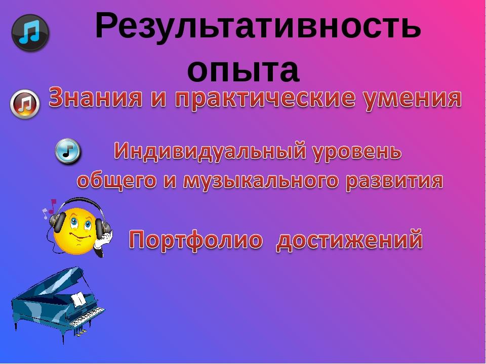 """Результативность опыта МОУ """"СОШ №1 ст. Зеленчукской"""""""