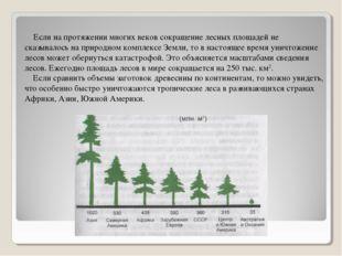 Если на протяжении многих веков сокращение лесных площадей не сказывалось на