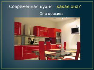 Современная кухня - какая она? Она красива