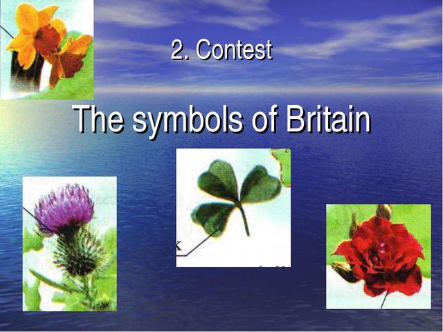 2. Contest The symbols of Britain