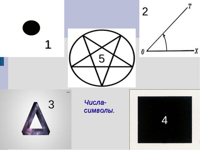 1 2 4 3 5 Числа-символы.