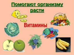 Помогают организму расти