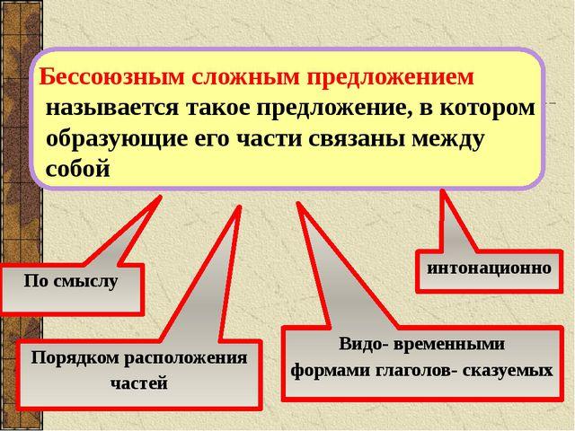 Бессоюзным сложным предложением называется такое предложение, в котором образ...