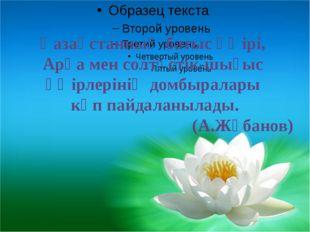 Қазақстанның батыс өңірі, Арқа мен солтүстік-шығыс өңірлерінің домбыралары к
