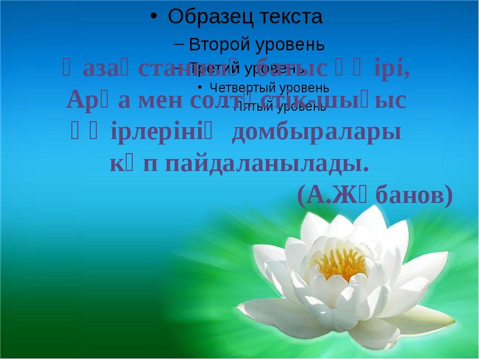 Қазақстанның батыс өңірі, Арқа мен солтүстік-шығыс өңірлерінің домбыралары к...