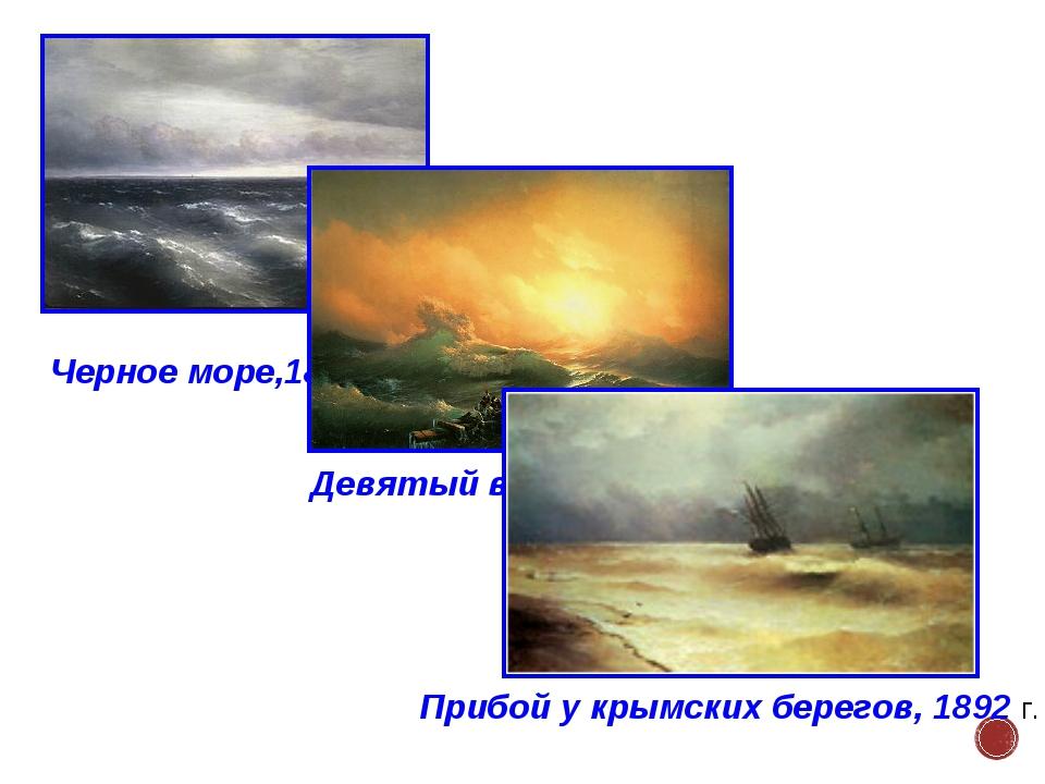 Черное море,1881 г. Девятый вал,1850 г. Прибой у крымских берегов, 1892 г.