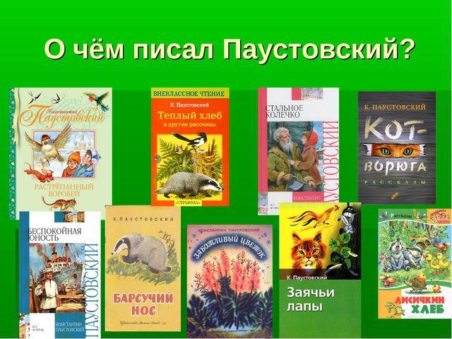 О чём писал Паустовский?