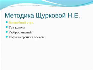 Методика Щурковой Н.Е. Волшебный стул. Три короля Разброс мнений. Корзина гре
