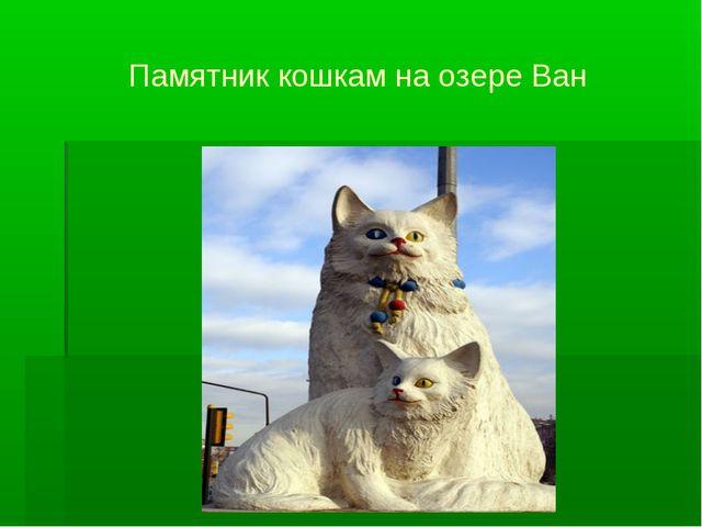Памятник кошкам на озере Ван