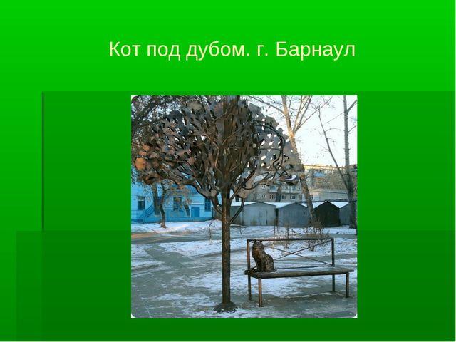 Кот под дубом. г. Барнаул
