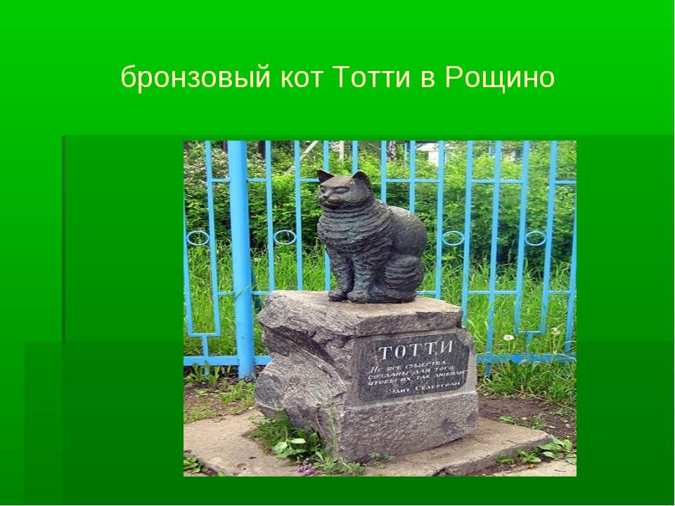 бронзовый кот Тотти в Рощино