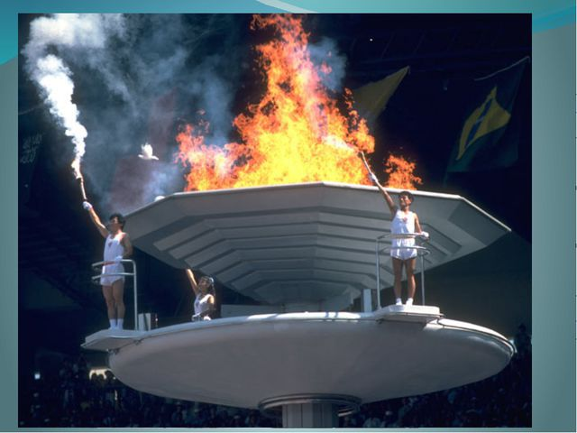 Традиционные ритуалы Зазжение олимпийского огня на церемонии открытия