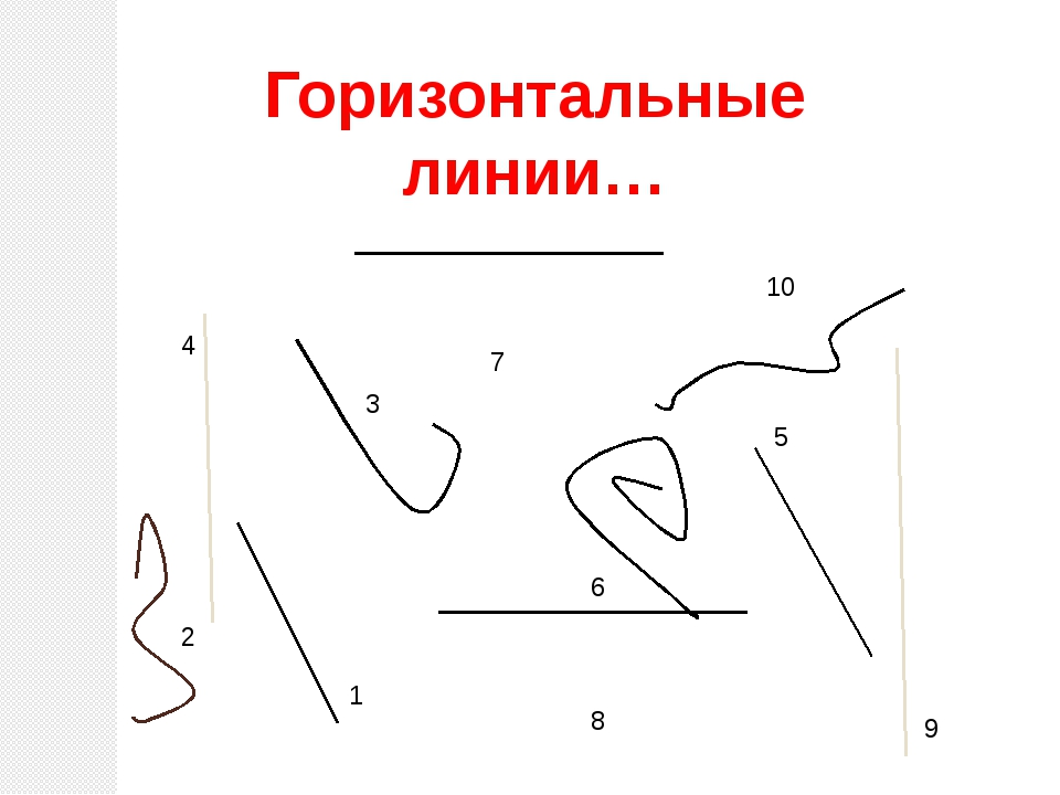 10 5 6 4 8 7 1 2 3 9 Горизонтальные линии…