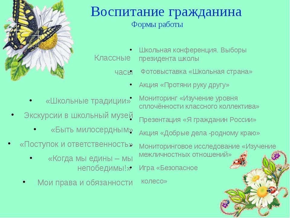 Школьная конференция. Выборы президента школы Фотовыставка «Школьная страна»...