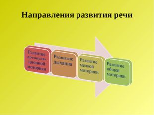 Направления развития речи
