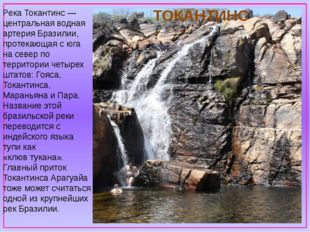 Река Токантинс — центральная водная артерия Бразилии, протекающая с юга на с