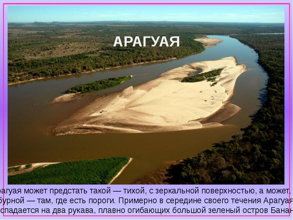 Арагуая может предстать такой— тихой, сзеркальной поверхностью, аможет, и...