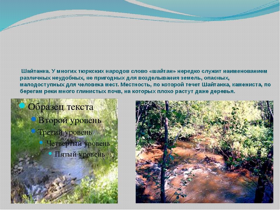 Шайтанка. У многих тюркских народов слово «шайтан» нередко служит наименован...