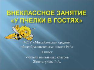 МОУ «Михайловская средняя общеобразовательная школа №3» 1 класс Учитель начал