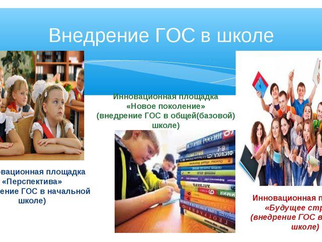 Инновационная площадка «Перспектива» (внедрение ГОС в начальной школе) Иннов...
