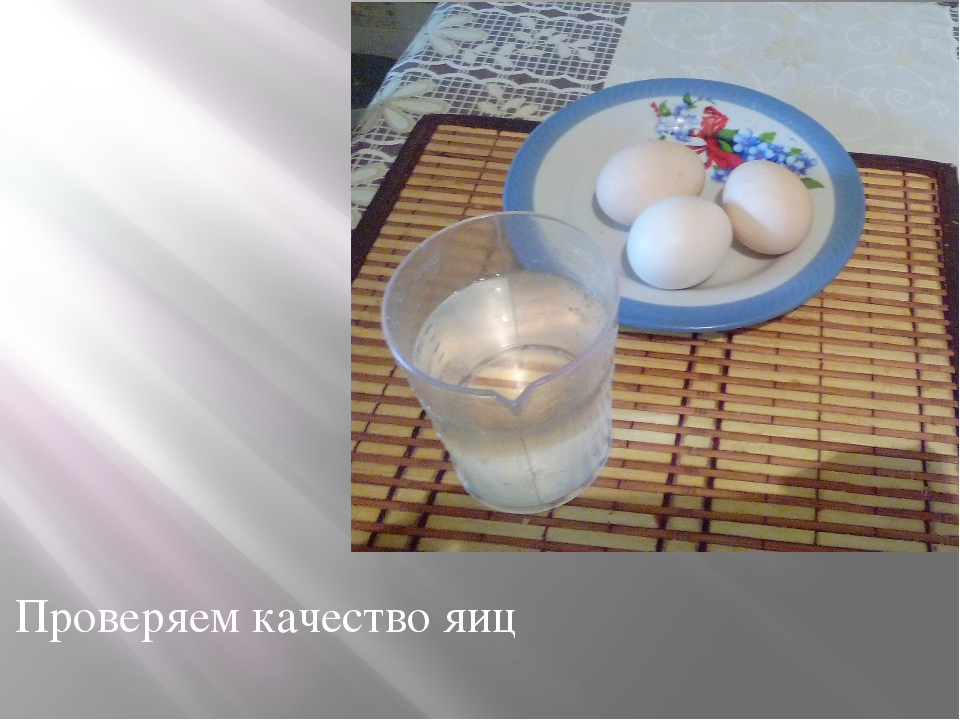 Проверяем качество яиц
