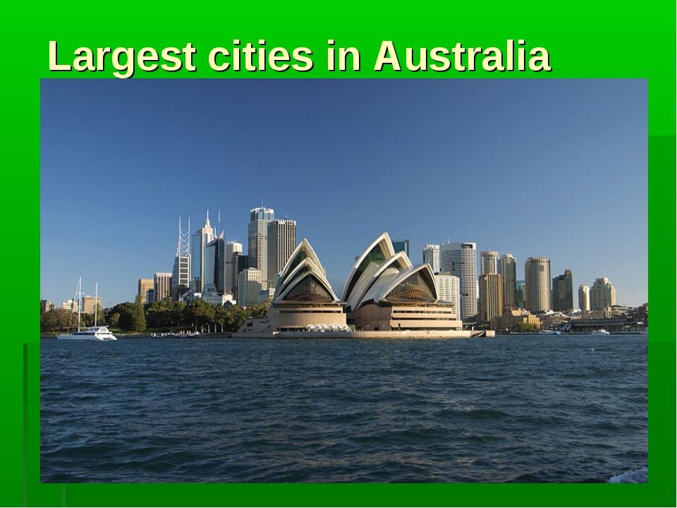 Largest cities in Australia