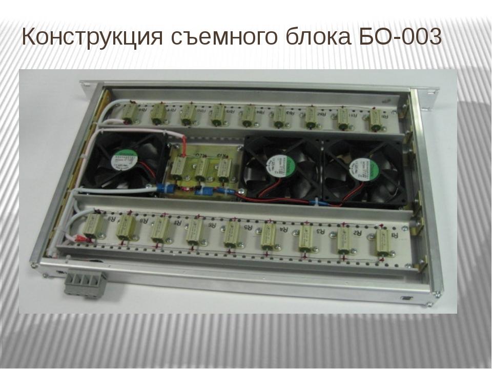 Конструкция съемного блока БО-003