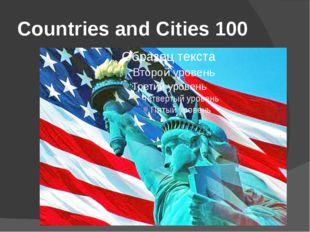 Countries and Cities 100
