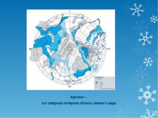 Арктика – это северная полярная область земного шара