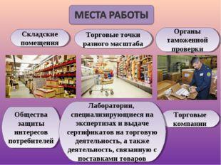 Торговые компании Органы таможенной проверки Общества защиты интересов потреб