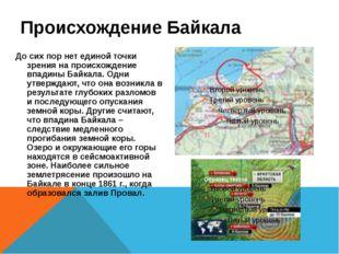 Происхождение Байкала До сих пор нет единой точки зрения на происхождение впа