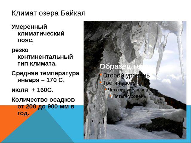 Умеренный климатический пояс, резко континентальный тип климата. Средняя темп...