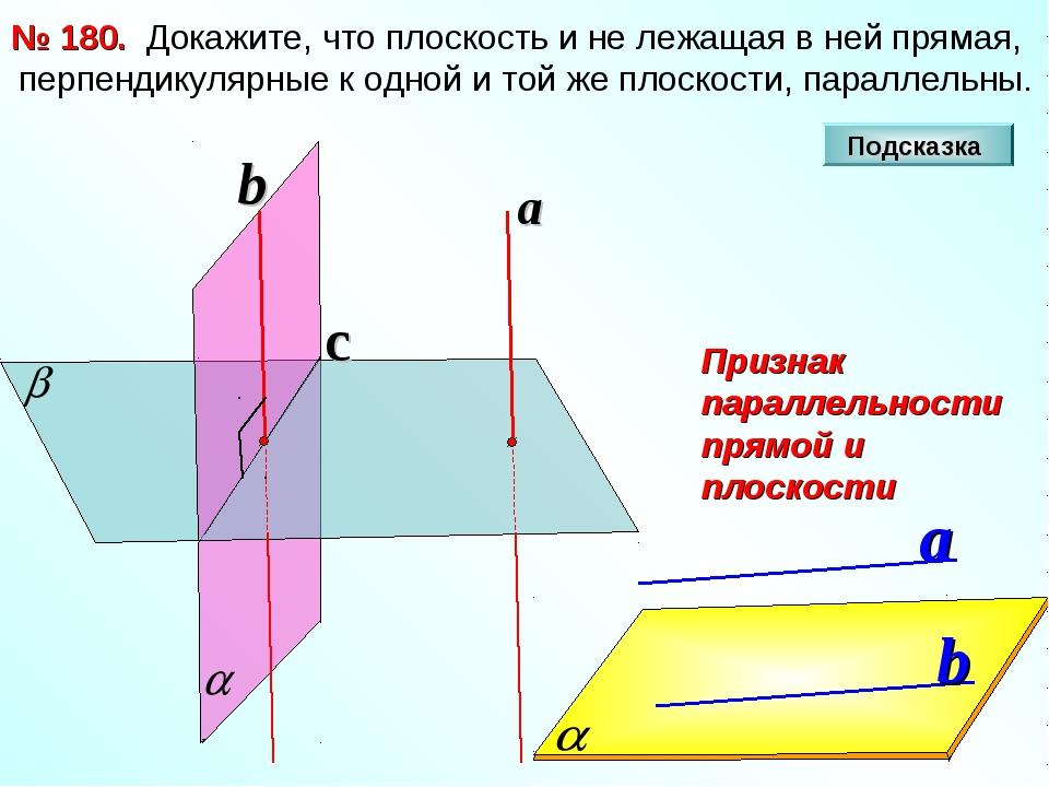 Докажите, что плоскость и не лежащая в ней прямая, перпендикулярные к одной...