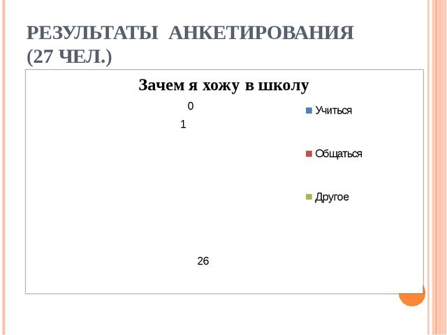 РЕЗУЛЬТАТЫ АНКЕТИРОВАНИЯ (27 ЧЕЛ.)