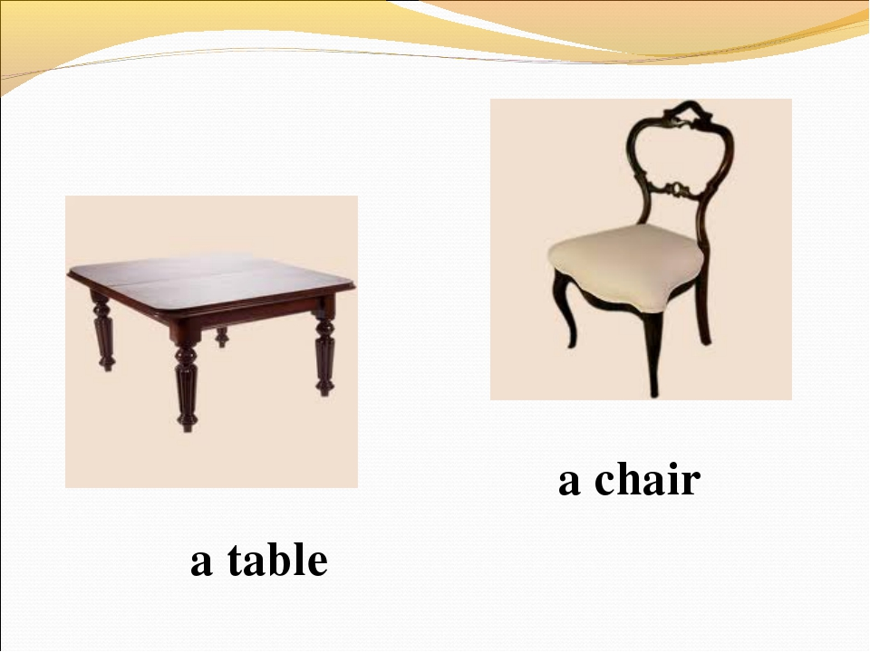 a table a chair