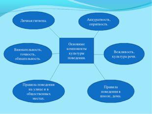 Основные компоненты культуры поведения. Личная гигиена. Аккуратность, опрятно
