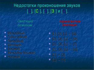 Недостатки произношения звуков [С], [С′], [З], [З′] и [Ц]. Свистящий сигматиз