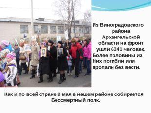 Из Виноградовского района Архангельской области на фронт ушли 6341 человек. Б