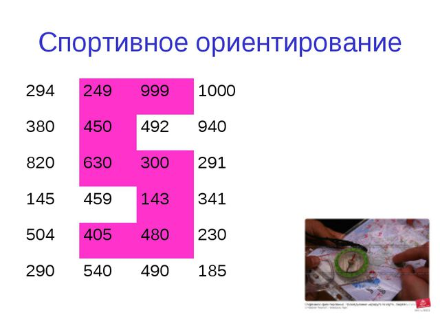 Спортивное ориентирование 2942499991000 380450492940 820630300291 14...