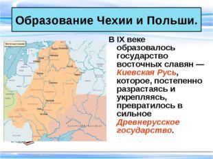 В IX веке образовалось государство восточных славян — Киевская Русь, которое,
