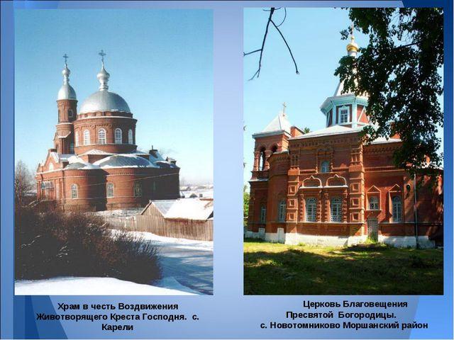 Церковь Благовещения Пресвятой Богородицы. с. Новотомниково Моршанский район...