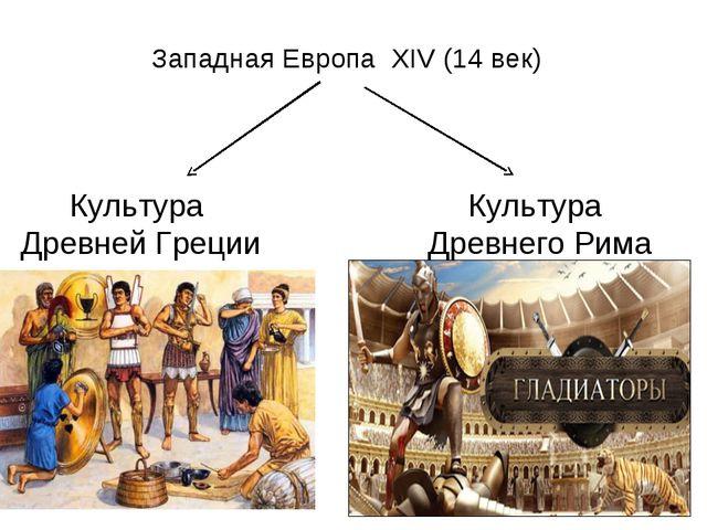Западная Европа ХIV (14 век) Культура Древней Греции Культура Древнего Рима