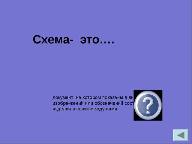 документ, на котором показаны в виде условных изображений или обозначений с...