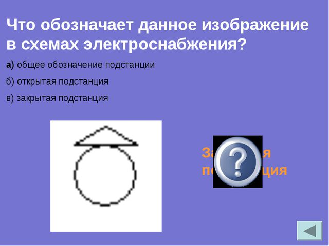 Что обозначает данное изображение в схемах электроснабжения? а) общее обознач...