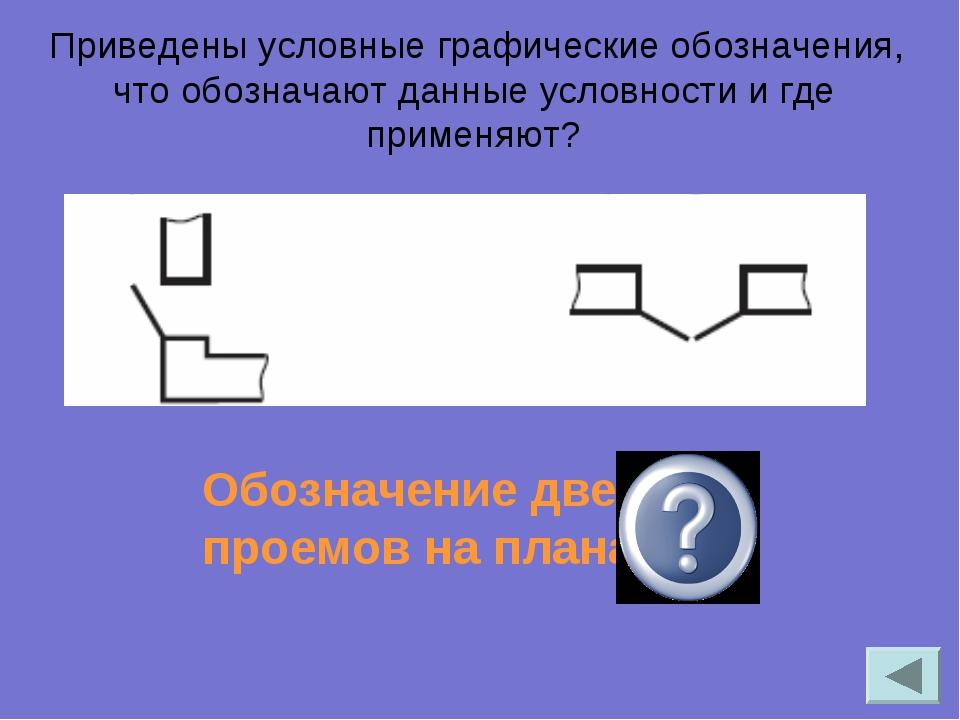 Приведены условные графические обозначения, что обозначают данные условности...