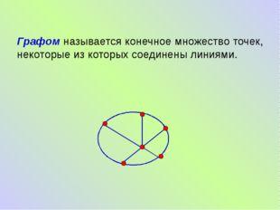 Графом называется конечное множество точек, некоторые из которых соединены л