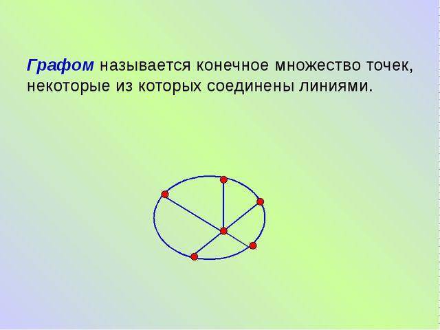 Графом называется конечное множество точек, некоторые из которых соединены л...